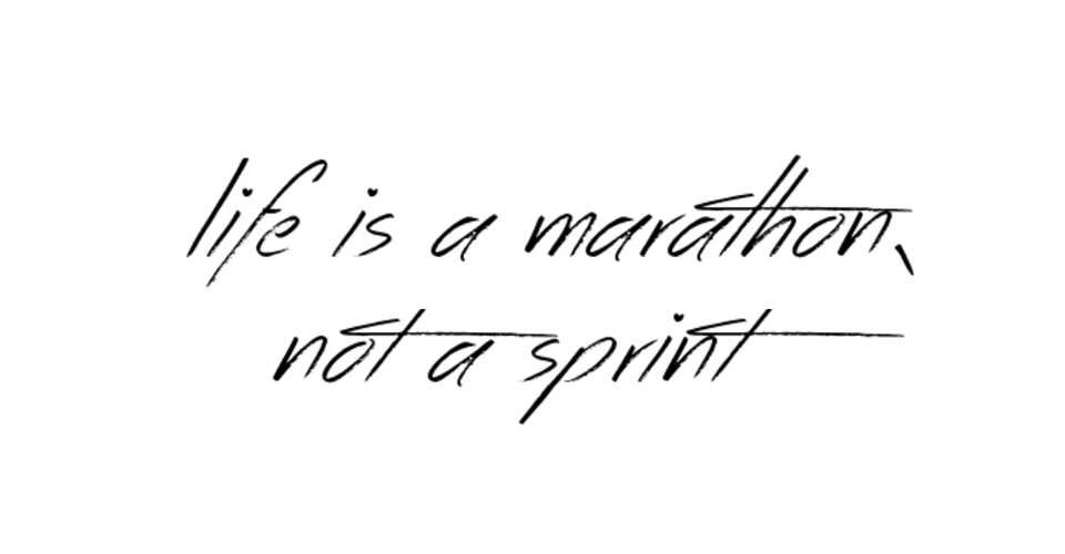 "2 thoughts on ""Life is a Sprint, not a Marathon"""