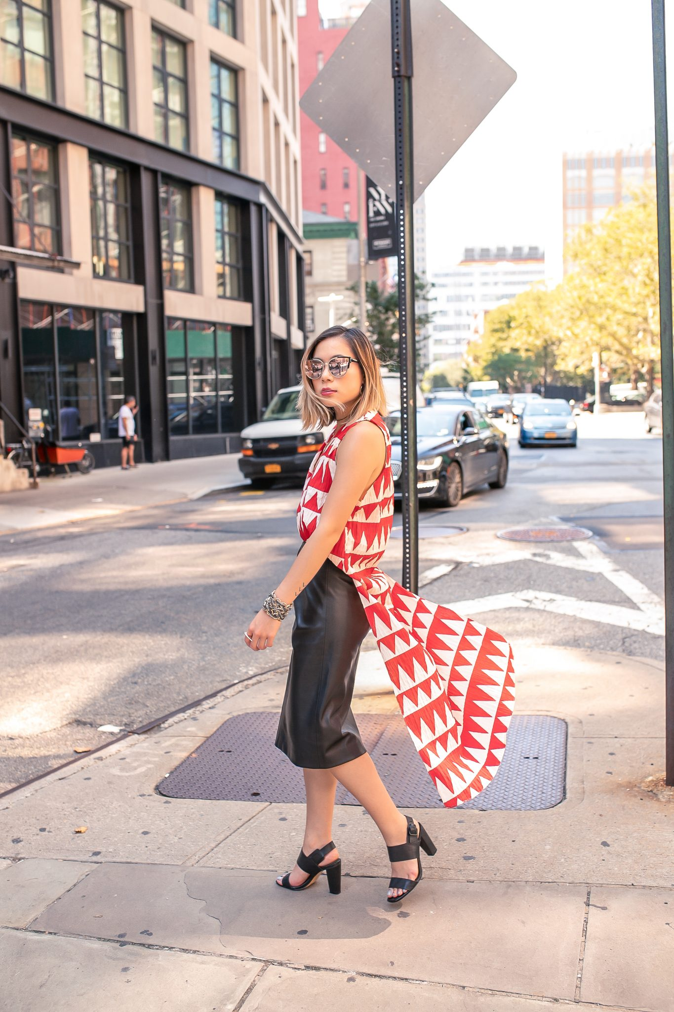 FashionPalette harvey the label nyfw 2018 new york fashion week blouse snakeskin doris dorothea kasey ma thestylewright brook and york lord and taylor zara camille jewelery