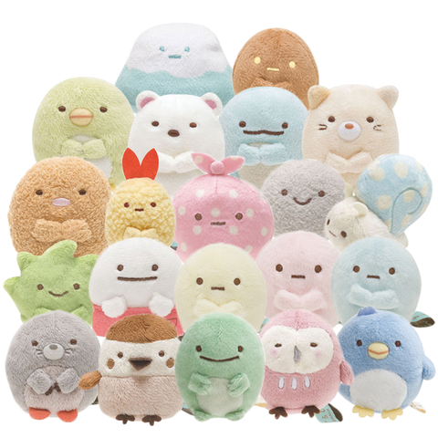 sumikko gurashi plushie collection and family japanese san-x